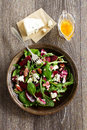 Salad with beet, blue cheese, Royalty Free Stock Photo