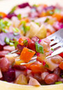 Salad with bolied beet Stock Image
