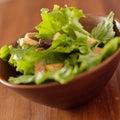 Salad bowl closeup Stock Images