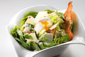 Salad a bowl of with egg and cheese Stock Photos
