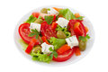 Salad with cheese gorgonzola Royalty Free Stock Photo
