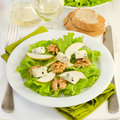 Salad with cheese gorgonzola, pear and walnut Royalty Free Stock Photo