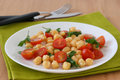 Salad with chick-pea Stock Image