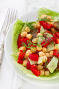 Salad with chick pea in bowl Stock Photos