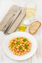 Salad chick-pea with parsley Royalty Free Stock Images