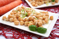 Salad of chick peas a fresh Royalty Free Stock Images