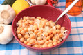 Salad of chick peas a fresh Royalty Free Stock Photography