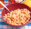 Salad of chick peas a fresh Stock Photo