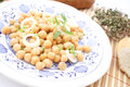 Salad of chick peas a fresh Royalty Free Stock Photo