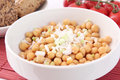 Salad of chick peas a fresh Stock Images