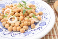 Salad of chick peas a fresh with onions Stock Images