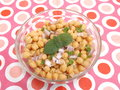 Salad of chick peas a with onions Royalty Free Stock Photos