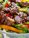 Salad with chicken liver Royalty Free Stock Images