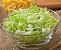 Salad from Chinese cabbage and sweet corn Royalty Free Stock Photo