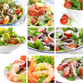 Salad Collage Stock Photos