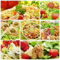 Salad collage Royalty Free Stock Photo