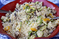 Salad couscous for a vegetarian diet Royalty Free Stock Photography