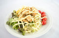 Salad and cream vegetable wiht chicken Royalty Free Stock Images