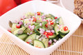 Salad of cucumbers with chili a fresh Royalty Free Stock Photography