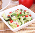 Salad of cucumbers with chili a fresh Royalty Free Stock Photo