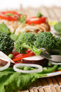 Salad diet Stock Images