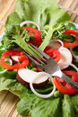 Salad diet Stock Photo