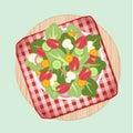 Salad dish on picnic n