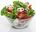 Salad with dried tomatoes Royalty Free Stock Photo