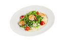 Salad from eruca and shrimps Royalty Free Stock Photography