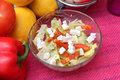 Salad with feta some fresh salat cheese Royalty Free Stock Photo