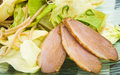 Salad fillet of duck 2 Stock Photo
