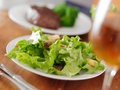 Salad at fine dinner Royalty Free Stock Images