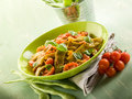 Salad with flat green beans Stock Photo