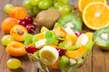 Salad of fresh fruits and berries close up Royalty Free Stock Photography