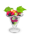 Salad with fresh fruits and berries Royalty Free Stock Photo