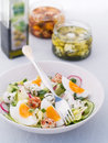 Salad fresh vegetable with cheese ball selective focus Royalty Free Stock Image