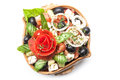 Salad fresh vegetable in plate Stock Photography