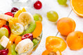 Salad of fruits fresh ripe and berries Stock Image