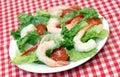 Salad Greens and Shrimp Stock Photos