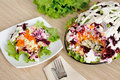 Salad with herring and vegetables Royalty Free Stock Photos