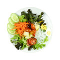 Salad with lettuce and other fresh vegetable close up Royalty Free Stock Photos