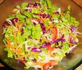 Salad, lettuce, tomato, carrot Royalty Free Stock Photo