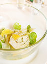 Salad made of fresh fennel with oranges Royalty Free Stock Images
