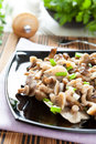 Salad of marinated honey agarics Stock Images