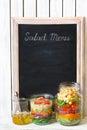 Salad menu.