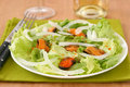 Salad with mussels Stock Images