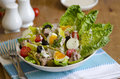 Salad nicoise freshly made in a bowl Royalty Free Stock Photo
