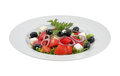 Salad with olives, sweet peppers and feta cheese Royalty Free Stock Photo