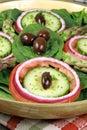 Salad with organic veggies Stock Photos