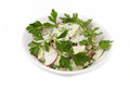 Salad with parsley leaves Royalty Free Stock Images